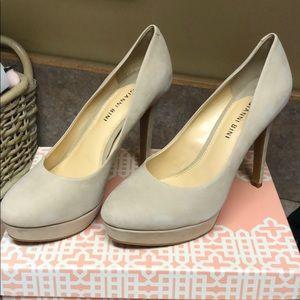 Gianni Bini suede beige heels brand new